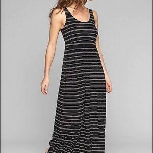 ATHLETA Black Stripe Patio Maxi Dress